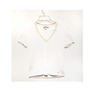 Tommy Hilfiger Cable Knit V-neck Sweater Size M